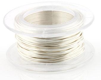 WIRE - 18g (AWG) Silver Enamel Copper Wire - 4 yard spool.