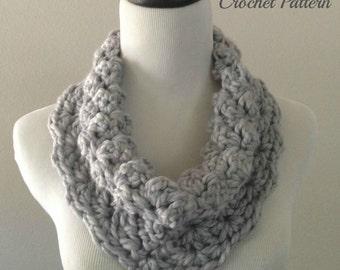 CROCHET PATTERN - Chunky Cowl Crochet Pattern, Chunky Cowl Pattern, Crochet Scarf Pattern, Easy Crochet Pattern, Beginner Crochet Pattern