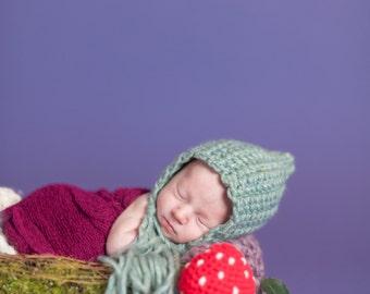 Pixie Bonnet Woodland Mushroom Lovey Prop Lovie amigurumi