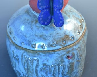 Custom Ceramic Urn- For Pets, Dog, Cat, Bird, Rabbit, Ferret, Any Animal, Any Design, Pet Urn, Dog Urn, Small Animal Urn