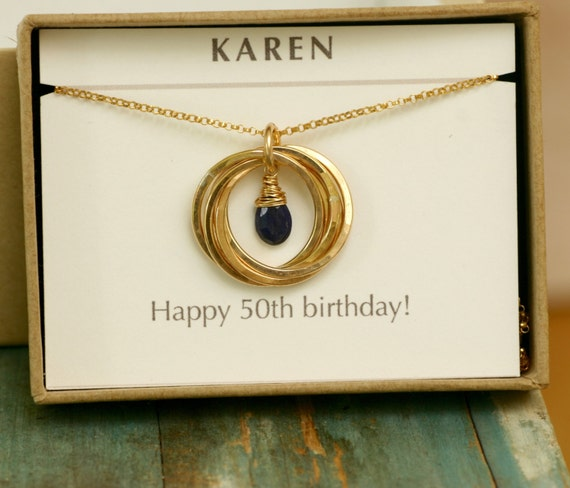 50th birthday gift september birthstone necklace gift for