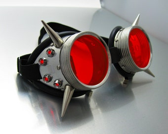 Flux LED Goggles see-through lenses and long Spikes