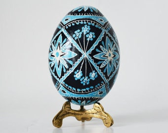 Robin's blue traditional Easter egg  decorated real chicken egg shell,gift idea for mother inlaw to be,future parents inlaw Easter dinner
