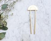 Lunar Hair Sticks | Brass Hair Pin | Modern Boho Hairpin Accessory