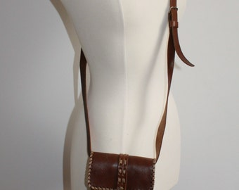 SALE Small Brown Leather Satchel