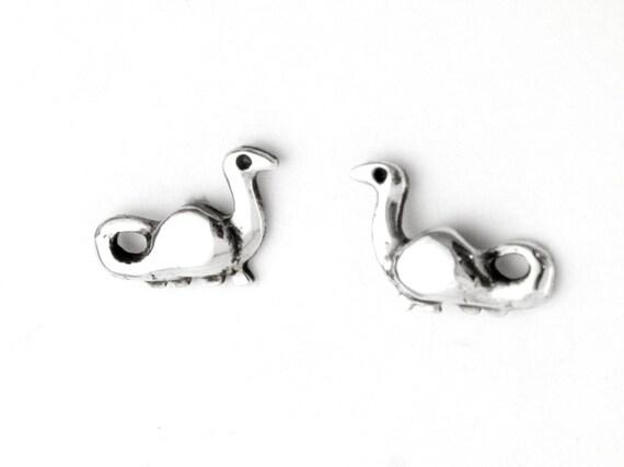 Dinosaur Sterling Silver Post Earrings