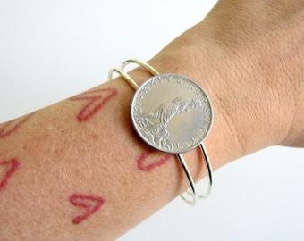 Turkish coin cuff bracelet . Turkey coin bracelet . coin jewelry . adjustable cuff . womens jewelry . world coin bracelet