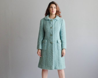1960s Hattie Carnegie Coat - Vintage 60s Wool Coat - Miss Tiffany Coat