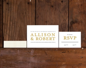 Modern Wedding Invitation Printable,Modern Watercolor Invites,Custom Wedding Invite Digital Files,Modern Minimal Wedding Invitation Template
