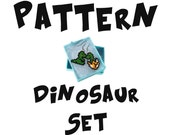 T-Rex Dinosaur Pattern, Baby Dino Charms Jewelry, Beadweaving Instant Download
