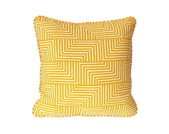 Maze Square Pillow - 18 x 18 in. - Geometric Modern Organic Cotton