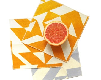 Parallels Cocktail Napkins - Geometric Modern Organic Cotton