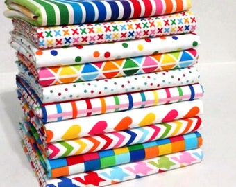 Rainbow Remix 1/2 Yard Bundle - Ann Kelle / Robert Kaufman Fabrics