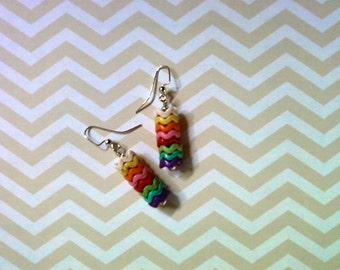 Rainbow Chevron Earrings (2174)