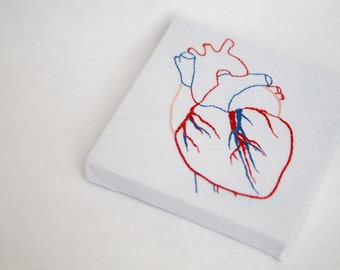 Embroidered Anatomically Correct Heart