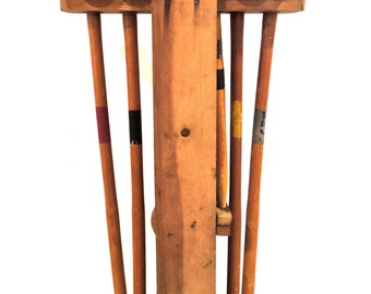 antique croquet set - 1920s-30s wooden croquet set