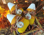 Candy Corn Rustic Bowl Fillers (set of 3)