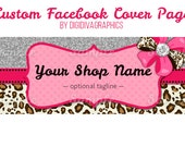 CUSTOMIZED BANNER - Diva Boutique Bling Bow Facebook Page Timeline Cover Premade