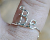Adjustable Wire Ring, Word Ring Be Non Tarnish Silver Plated Wire