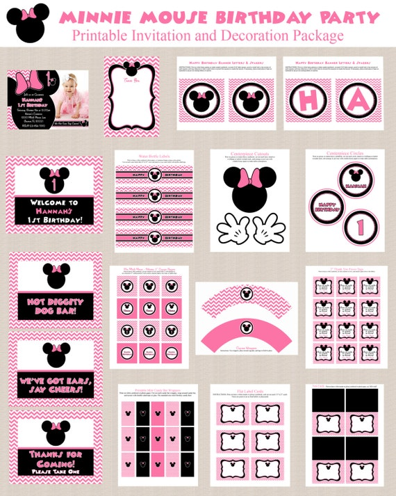 Minnie Mouse Birthday Party Printables Minnie Mouse Party
