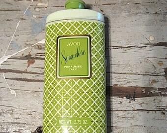 Avon Somewhere Perfumed Talc Metal Can