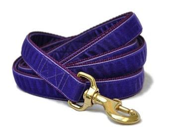 Purple Velvet Leash