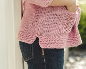 PDF file knitting pattern for girls pullover