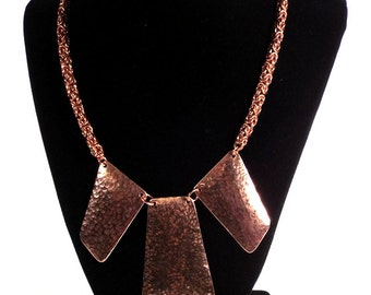 3 Piece Focal Copper Byzantine Necklace