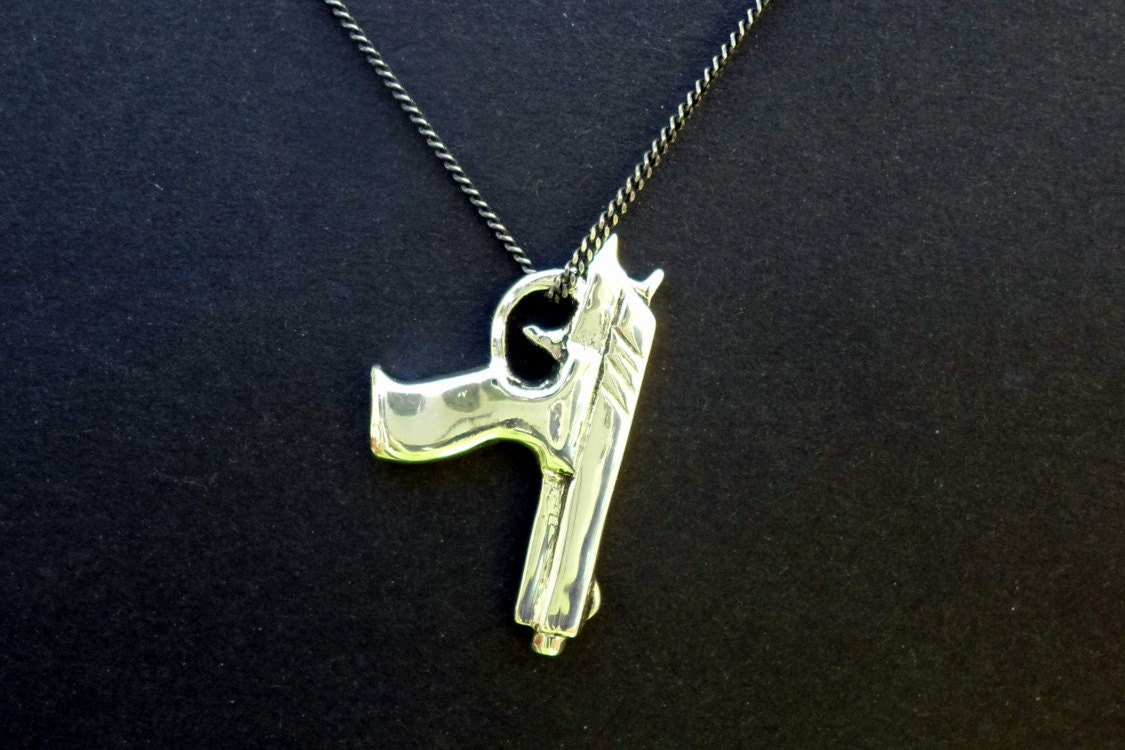 gun jewelry pistol necklace gun pendant pistol pendant