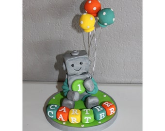 Custom Robot Cake Topper for Birthday or Baby Shower