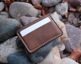 Leather Credit Card Case Brown, Card Holder, Card Case, Business Card Case