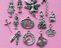 The Nutcracker Ballet Charm Collection 13 Charms Antique Silver Tone - COL256