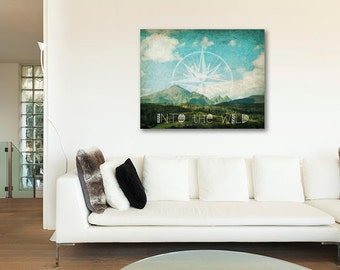 ON SALE 20% OFF Into the Wild - stretched canvas print,