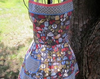 Birds and Leaves Full Apron