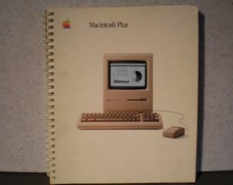 Vintage 1980's Apple Macintosh Plus Owner's Manual - 030-1246-B