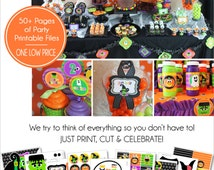 Halloween Birthday Party Printable - Birthday Party Set by Amanda's Parties To Go