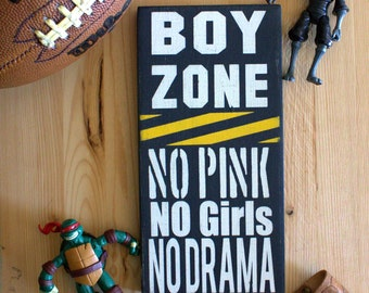 Boy's Room Sign, Boy Zone, No Girls Allowed Sign, Sign for Boy's Room, Boy Room Decor