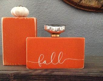 Fall Decor Wood Pumpkin, Painted Wood Pumpkin, Handmade Pumpkin, Glass Knob Pumpkin, Pumpkin Decor