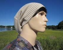 Winter Hat Men's Slouchy Beanie Tan Light Brown Thick Knit Slouch Tam Warm Winter Hats A1281