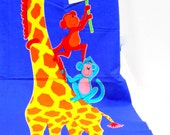 Growth Chart Fabric Panel, VIP Cranston Printworks Fabric, Giraffe Print Fabric Growth Chart