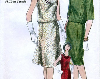 Vogue 5303 Vintage 60s Misses' Two Piece Dress Sewing Pattern - Uncut - Size 14 - Bust 34