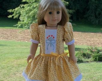 Maryellen's School Dress-  1950's Clothing for American Girl  Dolls or Maru & Friends
