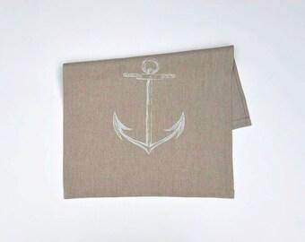 White Anchor Pillow