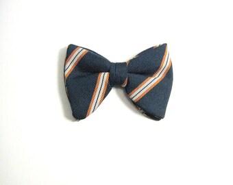 Large Wembley Striped Vintage Bow Tie