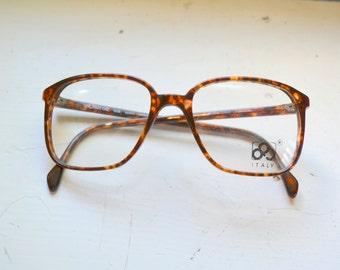 1980s NOS Luxottica Avant Garde Plastic Eyeglasses Frames, Made in Italy