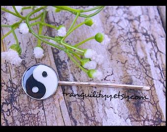 Yin Yang Hair Clip, Harmonizing Yin Yang Bobby Pin Hair Clip , Zen, Peaceful Vibes, Handmade By: Tranquilityy