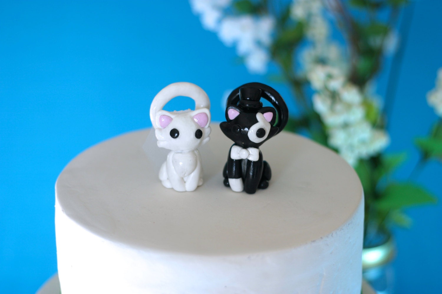 cat wedding cake toppers cats wedding cake toppers custom wedding cake topper 2519