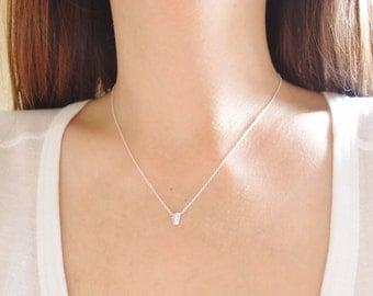 Tiny Skull Necklace, Sterling Silver Skull Necklace, Delicate Necklace, Simple Necklace, Layering Necklace, Everyday Jewellery