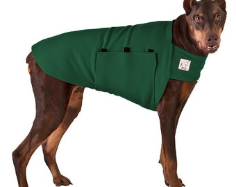 DOBERMAN PINSCHER Tummy Warmer, Dog Sweater, Fleece Dog Coat, Dog Clothing