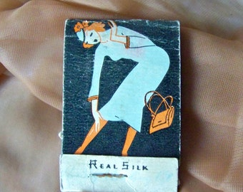 Vintage Silk Stocking Mending Kit Matchbook Mending Kit Silk Thread Run Arrestor Hosiery Mending Kit Garter Belt Hosiery 1940s